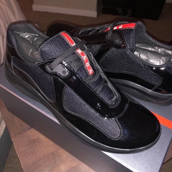 99bafbcc Prada Patent Leather Sneakers NWT